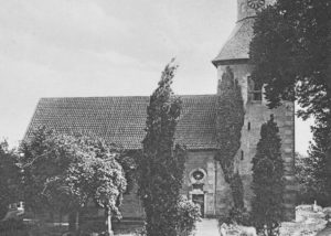 Kirche, Ansicht von Norden, um 1930