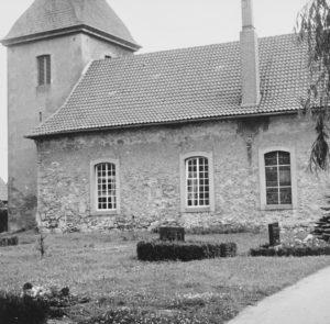 Kirche, Ansicht von Südosten, Teilansicht, 1960