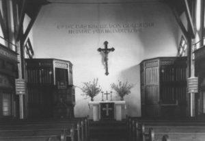 Alte Kirche, Blick zum Altar, um 1960