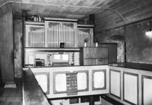 Kirche, Blick zur Orgel, vor 1972