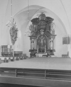 Kirche, Blick zum Altar, Foto: Ernst Witt, Hannover, 1957