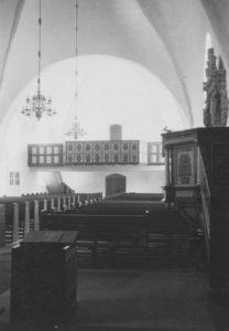 Kirche, Blick zur West-Empore, Foto: Ernst Witt, Hannover, 1957