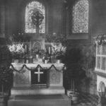 Kirche, Blick in die Apsis, um 1953