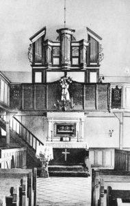 Kirche, Blick zum Altar und zur Orgel, vor 1963