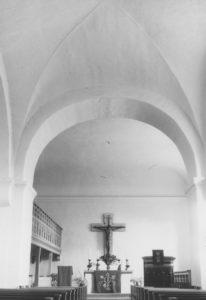 Kirche. Blick zum Altar, nach 1963, Fotograf: P. Greve, Jöllenbeck (?)