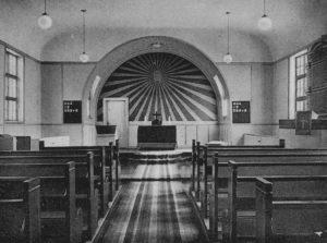 Kirche, Blick zum Altar, um 1948