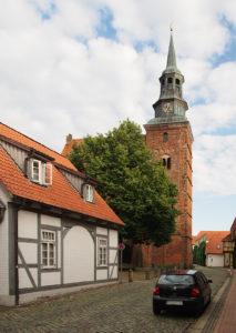Verden, Johannis, Kirchturm, Ansicht von Nordnordwesten